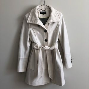 creamy white peacoat from buckle